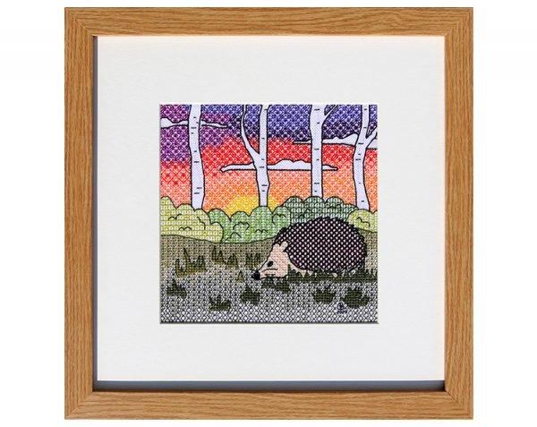 Hedgehog Blackwork Embroidery Kit